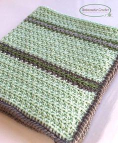 Soft & Squishy Baby Blanket - Free Crochet pattern by Ambassador Crochet Bag Crochet, Manta Crochet, Free Crochet, Crochet Mask, Booties Crochet, Crochet Bear, Crochet Braids, Crochet Animals, Baby Booties
