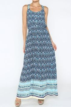 *** Printed Dress *** Sleeveless transitional summer dress can be worn layered under your cozy cable knit sweaters. Partially Lined