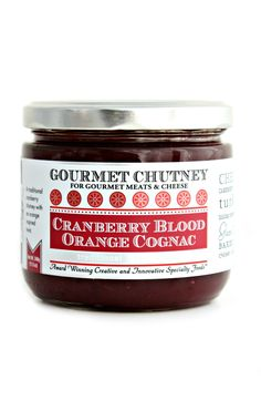 Cranberry Blood Orange Cognac Gourmet Chutney