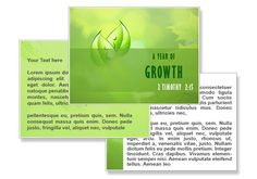 Year of Growth PowerPoint Templates