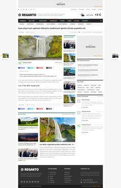 Reganto - Massive Magazine Theme - News / Editorial Blog / Magazine #wordpress #theme #website #template #responsive #design #webdesign #flat #flatdesign #news #magazine #blog