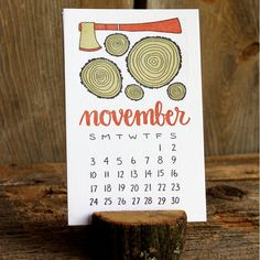 Look to the future with a 2013 Letterpress Calendar. $26.00.