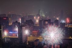Fireworks illuminate the skyline in celebration of the Chinese Lunar New Year, on Jan. 30 in Beijing, China. According to the Lunisolar Chinese calendar, 2014 is the Year of the Horse. Year Of The Snake, Year Of The Horse, Digital Projection, Projection Mapping, Celebration Around The World, New Year Celebration, Pictures Of The Week, Pictures Of People, Chinese Calendar