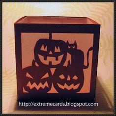 Halloween - Pumpkins and Cat Tea Light Lantern Free Papercraft Download - http://www.papercraftsquare.com/halloween-pumpkins-cat-tea-light-lantern-free-papercraft-download.html