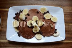 Banana Chocolate Pancakes! (Guilt free of course)