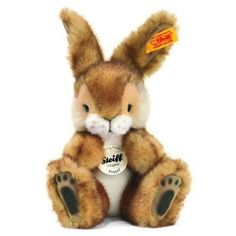 Steiff Poppel Toy Rabbit Collectible Easter Bunny  #Steiff