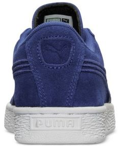 Puma Boys' Suede Classic Badge Casual Sneakers from Finish Line - Blue 6.5