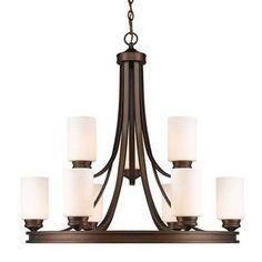 251 First Evelyn Sovereign Bronze Nine-Light Chandelier - 460999-1953094-251