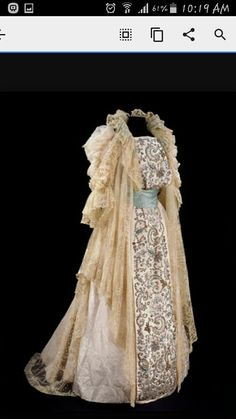 Vintage gown and overdress
