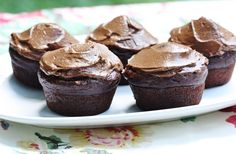 Chocolate Avocado Cupcakes with Chocolate Avocado frosting from Gena Hamshaw!