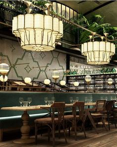 Have a look into these wonderful Restaurant Interiors from all around the world! | www.delightfull.eu #interiordesign #uniquelamps #lightingdesign