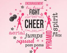 Large Cheer Cheerleading Pom Poms Stars by SunshineGraphix Cheerleading Tattoos, Cheerleading Pom Poms, Cheerleading Quotes, Cheer Quotes, Cheer Sayings, Sport Quotes, Emily Rose, Kids Decor, Art Decor