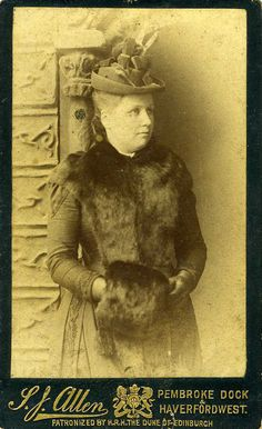 Woman in Hat and Furs