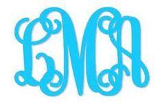 BOLD Vine Interlocking Intertwined Monogram Alphabet SVG Vector dxf EPS Design Files for Cameo Silhouette Studio Vinyl Cut Car Decal, etc. Vine Monogram Font, Free Monogram, Monogram Alphabet, Circle Monogram, Monogram Design, Vinyl Monogram, Cricut Fonts, Svg Files For Cricut