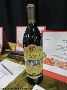 Silent auction - Caymus wine