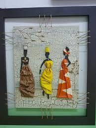 cuadros calas con relieve - Buscar con Google 3d Wall Art, Mural Art, African American Art, African Art, African Paintings, Newspaper Art, Different Kinds Of Art, Art Africain, Tropical Art