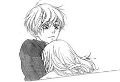 Omoi, Omoware, Furi, Furare sakisaka io managa shoujo roamnce couple tumblr hug love boy and girl