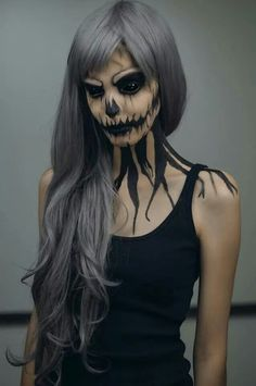 Awesome face make up for halloween