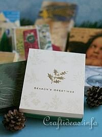 Christmas Paper Craft - How to Make a Gift Box Using Christmas Cards 200