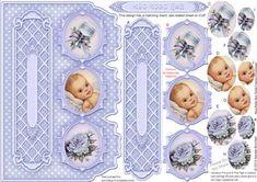 New Baby Boy Triple Cameo Pyramage