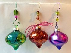 More Glitter and Alcohol Ink Ornaments by karjor - Cards and Paper Crafts at Splitcoaststampers