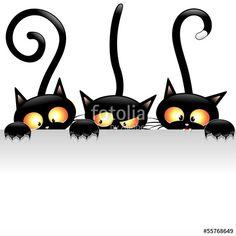 """Scarica il vettoriale Royalty Free  """"Funny Cats Cartoon with Panel-Gatti Buffi con Pannello"""" creato da BluedarkArt al miglior prezzo su Fotolia . Sfoglia la nostra banca di immagini online per trovare il vettoriale perfetto per i tuoi progetti di marketing a prezzi imbattibili!"""