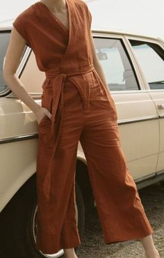 rusty orange jumpsuit