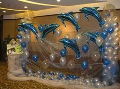 311pcs/set 1 meter dolphins And Latex balloons Snow yarn decorative yarn Valentine's Day Wedding and Party Decoration Balloons