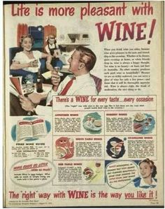 Life is more pleasant with Wine (Vintage Newspaper Article) #winefixin
