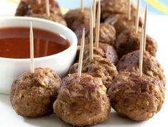You can freeze the uncooked meatballs and then de-frost when required.  Make more than you think you will need as they go quickly