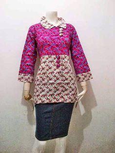 MODEL BAJU BATIK YANG COCOK UNTUK GURU  Trend Baju Batik Terbaru