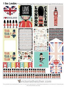 Free London Planner Stickers | Victoria Thatcher