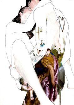 venetian kiss ~ mixed media ~ by adrien patout
