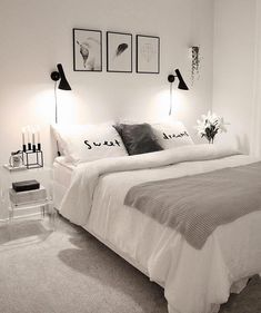 32 Beautiful Bedroom Decor Ideas for Compact Departments; For smart small apartment decorating ideas on a budget, look to accessories. bedroom decor ideas for teens. Dream Rooms, Dream Bedroom, Home Decor Bedroom, Bedroom Bed, Modern Bedroom, Bedroom Inspo, Budget Bedroom, Bedroom Furniture, Furniture Ideas