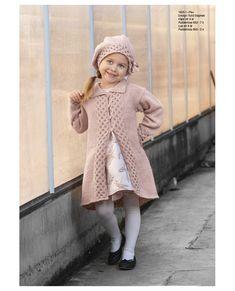 "1825-1 ""Fia""-kåpe og lue Crochet Coat, Norway, Vikings, Harajuku, Jumper, Fur Coat, Vest, Knitting, Blogg"