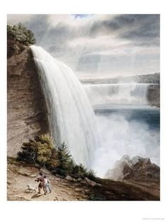 Global Gallery 'Niagara Falls' by William James Bennett Framed Painting Print Size: Painting Frames, Painting Prints, Art Paintings, Feng Shui Wall Art, Fall Canvas Art, American Falls, Williams James, Water Walls, Beach Landscape