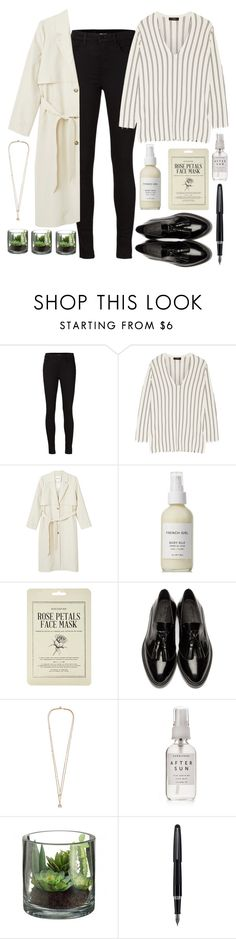 """""""parisian"""" by annamausi ❤ liked on Polyvore featuring J Brand, Theory, Monki, French Girl, Forever 21, Burberry, Alexander McQueen, Herbivore and Fountain"""