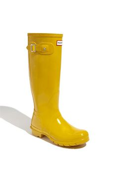 MUST HAVE!! Such adorable rain boots!!! Hunter 'Original Tall' Gloss Rain Boot (Women) | Nordstrom