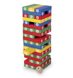 JENGA Diversión total. Una vez que la torre está construida, la persona que ha construido la torre empieza el juego. Aquí los movimientos consisten en coger un bloque de cualquier piso y colocarlo ordenado en la parte superior de la torre. .