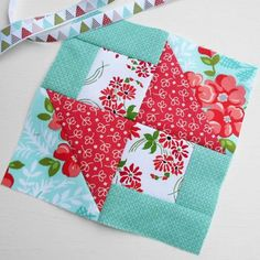 Block 93 - Simple Surprises. A lovely surprise to find The Splendid Sampler block no. 30 is a simple patchwork block.