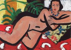 'Nu couché aux yeux bleus' (Reclining Nude with Blue Eyes) by Henri Matisse, 1936 ©2011 Succession H. Matisse / Artists Rights Society (ARS), New York © 2012 The Barnes Foundation