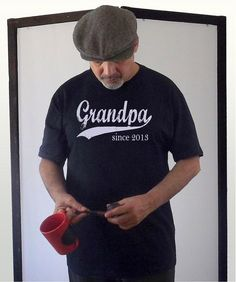 Mens Personalized Tshirt - Gifts for Grandpa - Grandpa since (any year) - sizes sm, med, lg, xl via Etsy