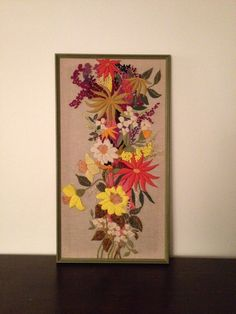 Vintage Crewel Framed Artwork $55 - Saugus http://furnishly.com/catalog/product/view/id/4626/s/vintage-crewel-framed-artwork/