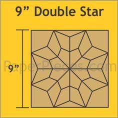 "9"" Double Star Block"