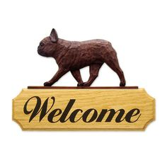 6 Coat Styles-French Bulldog Welcome Sign. Home,Yard & Garden Dog Wood Signs Products & Gifts. #PSMarketingINC