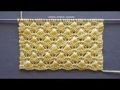 İnci kabuğu örgü modeli, pearl shell stitch knitting pattern - YouTube