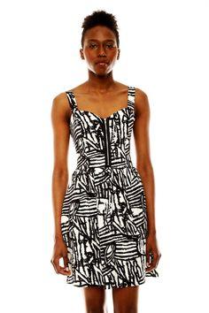 Print Zipper Dress