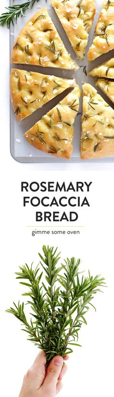 Totally easy and totally delicious focaccia bread...made with lots of fresh rosemary and sea salt!  Seriously one of my favorite bread recipes. | gimmesomeoven.com