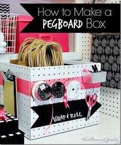 how to make peg board box