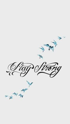 Stay Strong Feather Tattoo (I want some butterflies and